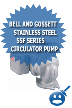Bell and Gossett Stainless Steel SSF Series Circulator Pump