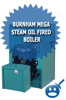 Burnham Mega Steam Oil Fired Boiler