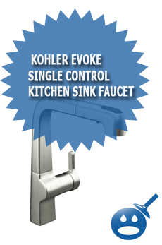 Kohler Evoke Single Control Kitchen Sink Faucet