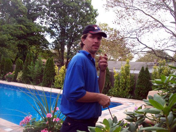 Dan Working Poolside