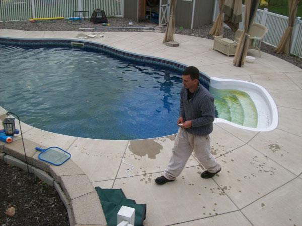 Matt Working On Green Pool