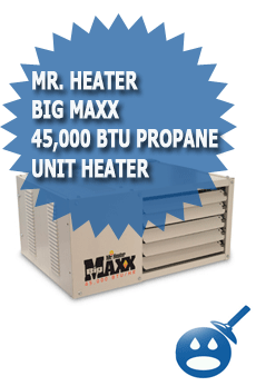 Mr Heater Big Maxx 45,000 BTU Propane Unit Heater