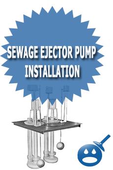 Sewage Ejector Pump Installation