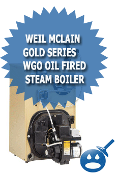 Weil McLain Gold Series WGO Oil Fired Steam Boiler