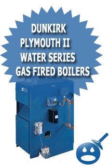 Dunkirk Plymouth II Water Series Gas Fired Boiler
