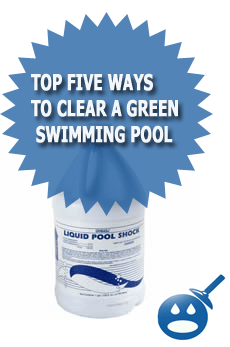 Top Five Ways Too Clear A Green Pool