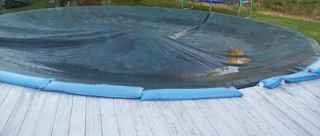 Winterized Above Ground Pool