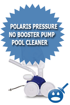 Polaris PRESSURE No Booster Pump Pool Cleaner