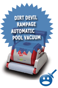 Dirt Devil Rampage Automatic Pool Vacuum Wet Head Media