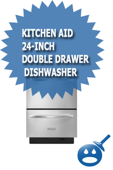 Kitchen Aid 24-Inch Double Drawer Dishwasher