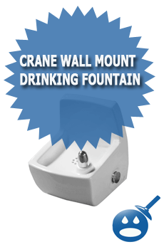 Crane Wall Mount Drinking Fountain