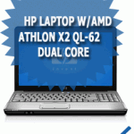 HP Laptop w/AMD  Athlon X2 QL-62 Dual Core