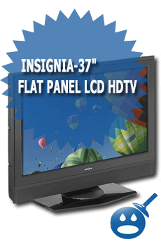 "Insignia-37"" Flat Panel LCD HDTV"