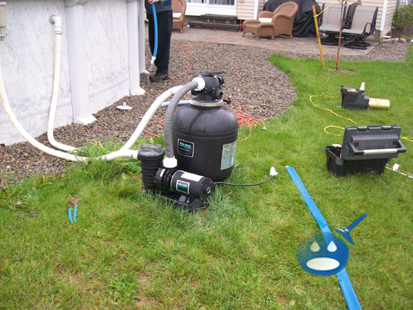 images of sand filter above ground pool