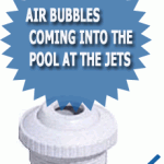 Air Bubbles Coming Into The Pool At The Jets