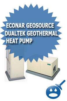 ECONAR GeoSource DualTek Geothermal Heat Pump