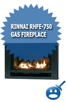 Rinnai RHFE 750 Gas Fireplace