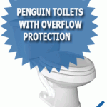 Penguin Toilets With Overflow Protection