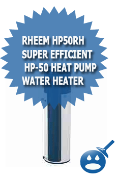 Rheem HP50RH Super Efficient HP-50 Heat Pump Water Heater