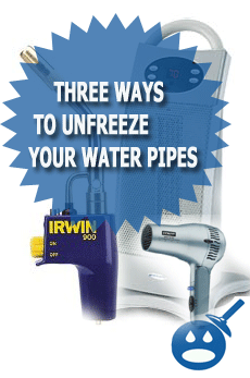 Three Ways To Unfreeze Your Water Pipes