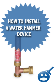 Water Hammer Arrestor Installation