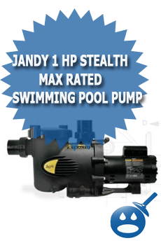 jandy 1 hp stealth max rated swimming pool pump. Black Bedroom Furniture Sets. Home Design Ideas