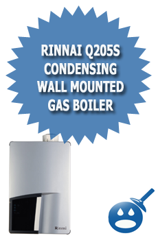 Rinnai Q205s Condensing Wall Mounted Gas Boiler Wet Head
