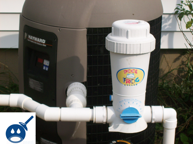 Pool Filter Plumbing : Adjusting the pool frog on your filter system wet
