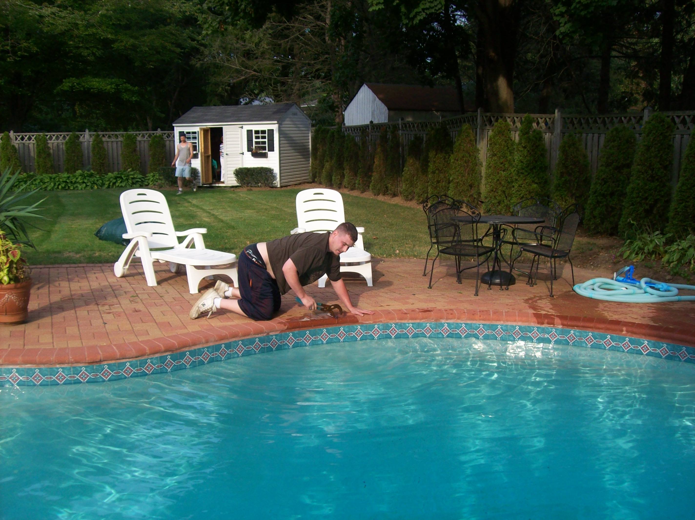 Pool Guy Action Shots