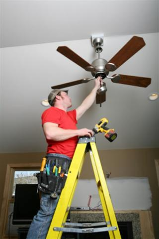 How to install a ceiling fan wet head media tools and materials required while installing a ceiling fan mozeypictures Image collections