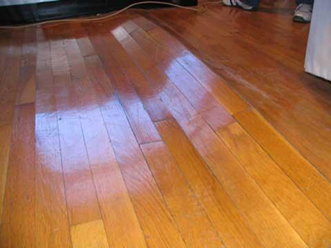 Hardwood Floor Buckling